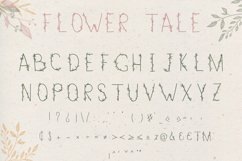 Flower Tale - Handwritten Floral Font Product Image 4