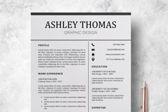 Resume | CV Template Cover Letter - Ashley Thomas Product Image 2