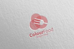 Color Food Logo for Restaurant or Cafe 67 Product Image 4