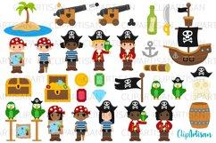 Pirate Clip Art, Pirates, Pirate Ship Treasure Island Product Image 1