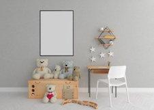 Interior mockup - blank wall mock up - nursery room Product Image 1