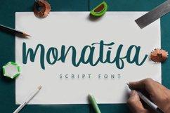 Monatifa   Beautiful Script Font Product Image 1
