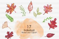 Fall Clipart-Halloween Clipart-Pumpkin Clipart-Leaf Clipart-Foilage Clipart-Clipart-Watercolor leafs-Watercolor Halloween-Watercolor Pumpkin Product Image 2