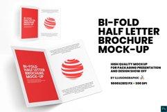 Bi-Fold Half Letter Brochure Mock-up Product Image 1
