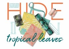 Hide in tropical leaves! Summer hand drawn patterns set Product Image 1