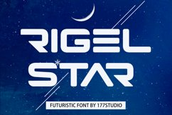 Rigel Star Futuristic Font Product Image 1