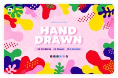 Hand-drawn seamless patterns, shapes & brushes bundle Product Image 1