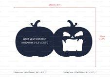 Halloween Jack O Lantern Foldable Invitation cutting file Product Image 3
