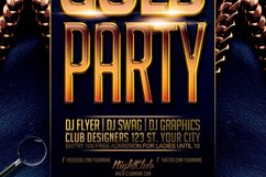 Gold Party | Urban Flyer Template Product Image 6