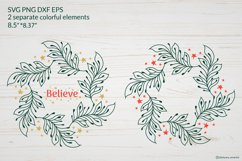 Christmas Wreath SVG graphic, Christmas ornament SVG file Product Image 2