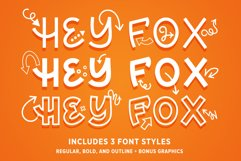 Hey Fox Font Trio Product Image 1