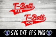 T-Ball Mom Dad | Bundle Set of 2 | SVG EPS DXF PNG Product Image 2