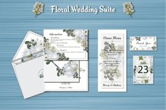 White Floral Wedding Invitation Suite Product Image 4