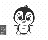 Penguin svg, Baby animals SVG, Set of cute Penguins cliparts Product Image 2