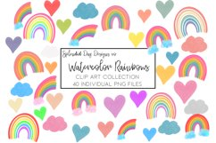 Watercolor Rainbow clip art collection 2 Product Image 1