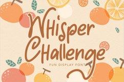 Whisper Challenge | Fun Display Font Product Image 1