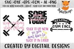Fitness SVG - png - eps - dxf - ai - fcm - Workout SVG - Silhouette - Cricut - Scan N Cut - Gym SVG Product Image 1
