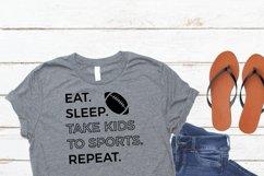 Football SVG - Eat Sleep Sports Football Product Image 3