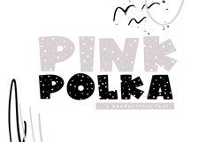 Pink Polka - A Bold Polka Dot Font Product Image 1