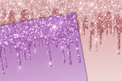 Dripping Glitter Digital Paper Product Image 2