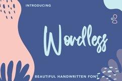 Web Font Wordless - Beautiful Handwritten Font Product Image 1