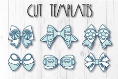 6 Sport Hair bow template SVG, Faux leather bow Cricut file Product Image 8