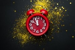 New year or Christmas background with a clock Product Image 1