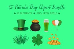 St. Patricks Day Clipart Bundle, Saint Patrick's Day Product Image 1