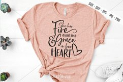 She Has Fire In Her Soul SVG, Grace In Her Heart SVG Product Image 1