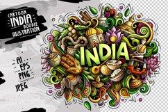 INDIA Cartoon Doodle Illustration Product Image 1