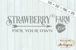 Strawberry Farm - Pick Your Own - Farm Rustic - SVG DXF File Product Image 2