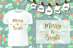Merry and Bright Svg, Merry Christmas SVG, Christmas SVG Product Image 2