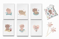 Cute kitten clipart and patterns Product Image 3