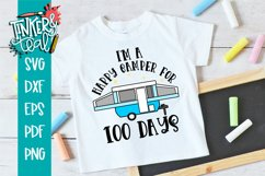 I'm A Happy Camper for 100 Days School SVG Product Image 1