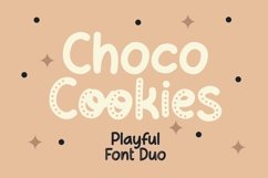 Web Font Choco Cookie - Playful Duo Font Product Image 1