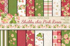 Shabby chic pink roses seamless patterns Product Image 1