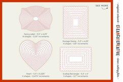 Stitched Nesting Shapes SVG | card making sketch foil paper Product Image 5