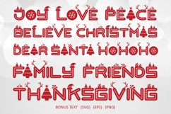 Love Santa - A Special Font For Christmas Product Image 6
