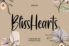 BlissHearts Handwriting Font Product Image 1