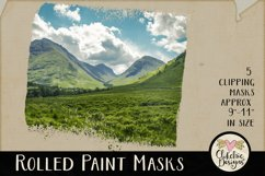 Clipping Masks - Rolled Paint Photoshop Masks & Tutorial Product Image 4