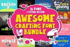Awesome Crafting Font Bundle Product Image 1