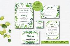Botannical Wedding Invitation Suite Product Image 1