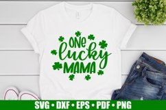 One Lucky Mama SVG files for Cricut, St Patrick's Day SVG Product Image 3