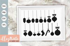 Baubles SVG Cut File | Christmas Ornament SVG Product Image 1