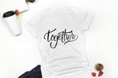 Together. Hand letttering phrase. PNG sublimation , SVG, Eps Product Image 2