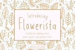 Flowerista - Girly Handwriting Floral Style Product Image 1
