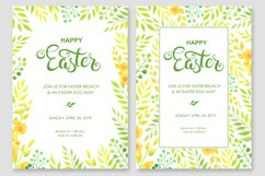 Happy Easter invitations and cards vector set Product Image 6
