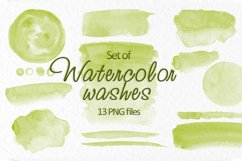 Olive green watercolor stains Wedding Invitation background Product Image 1