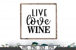 Live Love Wine SVG Product Image 1