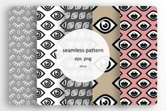 5 Seamless patterns set with different eyes Product Image 1